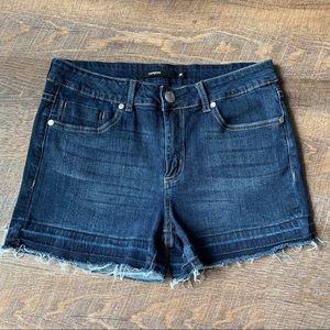 Harper Released Hem Denim Shorts